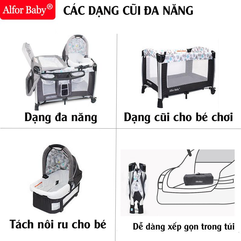 Giường cũi, nôi 4 in1 thông minh cho trẻ sơ sinh Alfor Baby, NHẬP KHẨU - 14