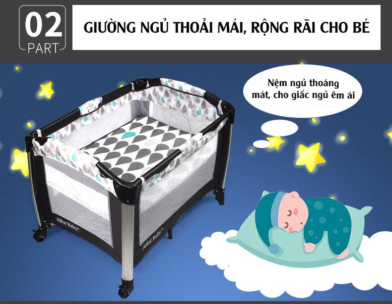 Giường cũi, nôi 4 in1 thông minh cho trẻ sơ sinh Alfor Baby, NHẬP KHẨU - 2