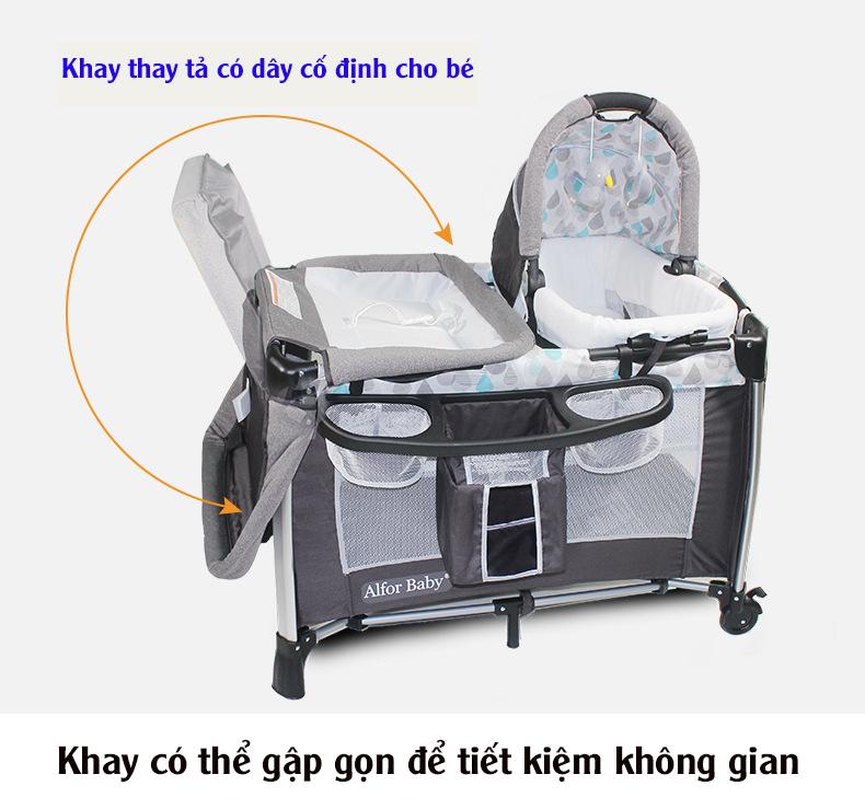 Giường cũi, nôi 4 in1 thông minh cho trẻ sơ sinh Alfor Baby, NHẬP KHẨU - 6