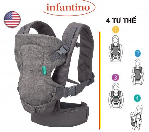 Địu trẻ em Infantino Flip 4-in-1 Convertible Carrier chĩnh hãng của Mỹ